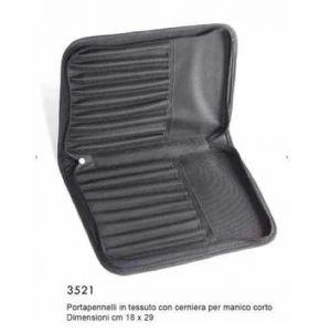 Porta pennelli in Tessuto nero - 18 scomparti - art. 3521 - Tintoretto