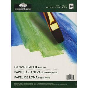 Canvas Paper Artist Pad - Blocco da Disegno Telato - 10 fogli - 280 g - 22,9 x 30,5 cm - art. RD354 - Royal & Langnickel