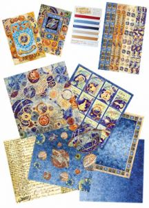 Kit carte per Scrapbooking Astrologia Zodiaco Arcana - Stamperia SBKIT015