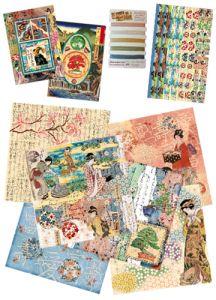 Kit carte per Scrapbooking Geisha Giappone - Stamperia SBKIT010