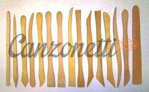 Stecche in bosso per modellare Paste - Creta - Argilla - Terracotta - 15 pz. Assortiti doppia Funzione - art. 1SPATB - Adria Artigianato