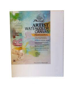 Tela per Acquerello - Artist Watercolor Canvas - Professional - 30 x 24 cm - 100% Cotone - Grana Fine - AP6031SB - Phoenix