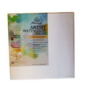 Tela per Acquerello - Artist Watercolor Canvas - Professional - 40 x 40 cm - 100% Cotone - Grana Fine - AP4040SB - Phoenix