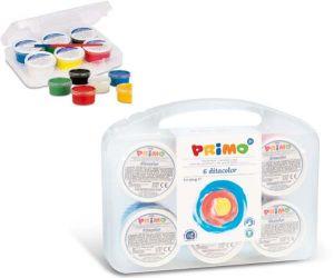 Tempera a Dita per Bambini - Valigetta 6 Barattoli Ditacolor - art. 221TD100SP - Primo
