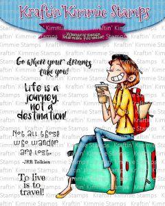 Timbro - fotopolimero trasparente - Life is a Journey - Viaggio - Kraftin' Kimmie Stamps