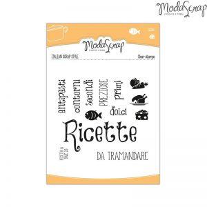 Timbro Modascrap - clear stamps - Cucina