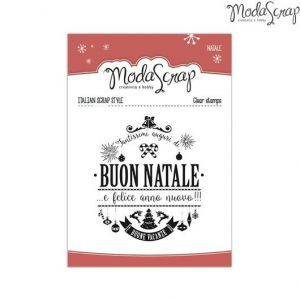 Timbro Natale - clear stamps - Tag Decorata