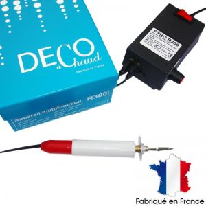 Pirografo professionale R300 con 2 uscite e regolatore di temperatura