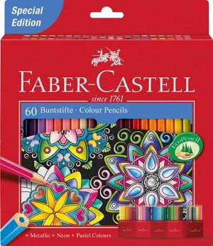Matite Colorate Valigetta  60 Pastelli Special Edition Art Therapy Faber-Castel