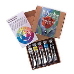 Colori primari acrilici fini  Maimeri Polycolor Primary set 5 tubetti 20 ml