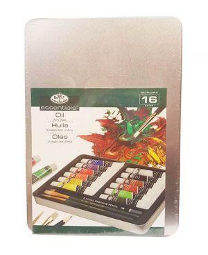 Colori a olio con pennelli Conf. metallo 16 pz.Pastel Art set Royal & Langnickel