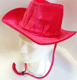 Cappello Cowboy In Velluto - Fuxia
