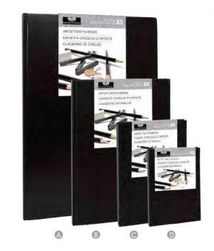 Libro schizzi Artist Sketchbook ROYAL & LANGNICKEL, costa rigida 80 fogli carta bianca