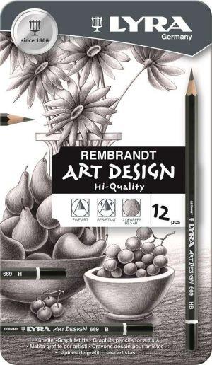 Matite in grafite 12 gradazioni LYRA Rembrant Art Design  confezione regalo