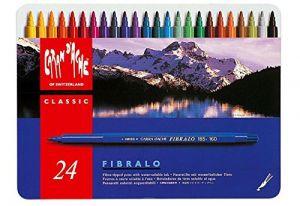 Pennarelli colorati acquerellabili Caran D'ache Fibralo 24