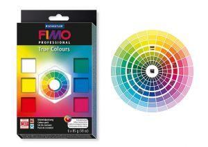 Set Fimo Professional True Colours - 6 Panetti da 85 g - Pasta Polimerica Termoindurente - art. 800301 - Staedtler