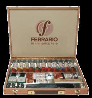cassetta in faggio con colori ad olio 15 tubi 60 ml van Dyck Ferrario