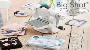 Big Shot Foldaway Starter Kit - Fustellatrice Sizzix - Versione Richiudibile - Scrapbooking - art. 662220 - Sizzix