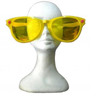 Carnevale - glasses party - occhiali maxi grande Giallo lente Gialla - Art.  maxiglassesgiallo - ean 8712026005366