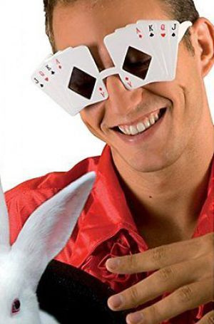Carnevale - glasses party - occhiali maxi magic poker - Carte da Gioco - Art.  glassesmagic - ean 8712026025067