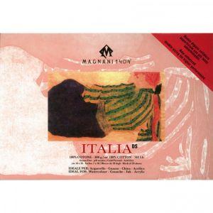 ITALIA - Blocco Carta per Acquerello, China e Acrilico - 100% Cotone - 300 g -  Grana Fina - Doppia Imprimitura - 18x26 cm - Cartiera Magnani