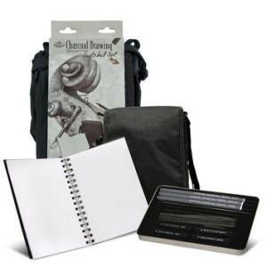 Charcoal Drawing Satchel Set - Set da Disegno con cartella a tracolla - art. FA-301 - Royal & Langnickel
