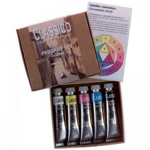 Colori primari ad olio extrafini Maimeri Classico Primary set 5 tubetti 20 ml