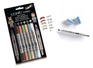 Pennarelli COPIC Ciao - 5+1 Blender Set Colori Tenui Num. 2 -