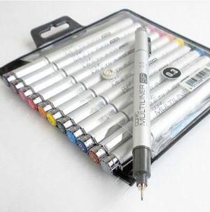 Copic MULTILINER SP - Penne a  punta fine 0,3 mm - Set 12 colori assortiti - art. SP12BS