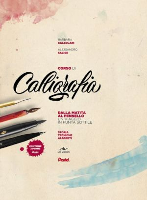 Corso di Calligrafia - cofanetto completo con manuale e 2 Penne - dalla matita al pennello - art. 70361H - Pentel