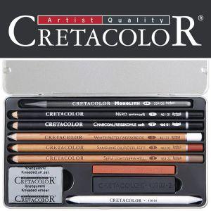 Cretacolor - Set da Disegno - 10 pezzi