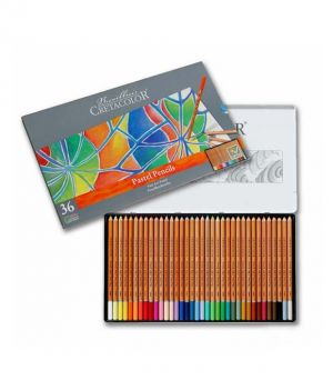 Matite Pastello - Confezione in metallo - 36 colori di alta qualità per artisti - art. 470 36 - Cretacolor
