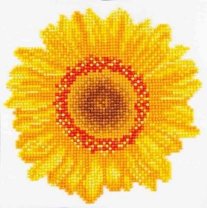 Diamond Dotz - happy day sunflower - Fiore Girasole - Kit completo - art. DD3.004