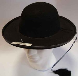 Cappello da Prete - Tessuto NHero - Accessori Carnevale