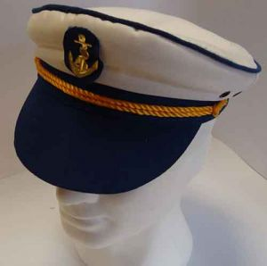 Cappello da Marinaio/Capitano in Blu - Accessori Carnevale
