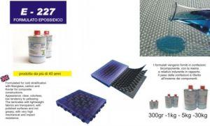 Resina formulato epossidico limpido per stratificazioni a freddo E227 200gr Prochima