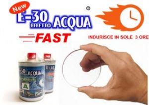 Resina E-30 Effetto Acqua FAST - Resina Epossidica Trasparente Atossica - Asciuga in 3 ore - 320 GR. - Prochima