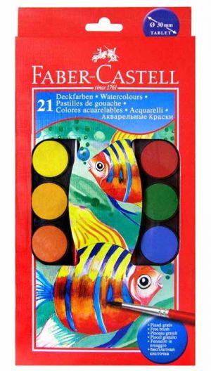 Colori acquerelli 21 pastiglie Faber-Castell