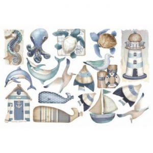 FOMMY DECO' - Mare - Sea Side - Fogli di gomma Eva/Crepla - Moosgummi - cm.20x30 - art. GDTEM026 -  Renkalik