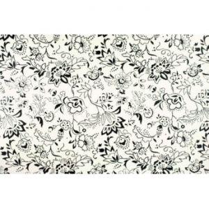 FOMMY - Fogli di gomma Eva/Crepla - Moosgummi - Glitter Arabesque - Talco/Nero - art. GGFARWT - Renkalik