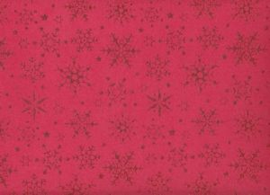 FOMMY Glitter Fantasia SNOWFLAKE rosso/rosso - Fiocchi di Neve - art. GGFSNN001R - Renkalik