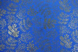 Fommy GLITTER FANTASIA Leaf - Fogli di gomma Eva/Crepla - Moosgummi - Blu e Foglie Oro Glitter - GGFLEN014 - Renkalik