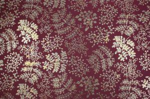 Fommy GLITTER FANTASIA Leaf - Fogli di gomma Eva/Crepla - Moosgummi - Granata e Foglie Oro Glitter - GGFLEA001 - Renkalik