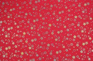 Fommy GLITTER FANTASIA Star - Stelle - Fogli di gomma Eva/Crepla - Moosgummi - Rosso/Oro Glitter - GGFSTN001 - Renkalik