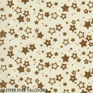 Fommy GLITTER FANTASIA Star - Stelle - Fogli di gomma Eva/Crepla - Moosgummi - Talco/Oro Glitter - GGFSTWTORO - Renkalik
