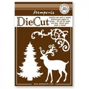 fustella-albero-cervo-natale-die-cut-stamperia