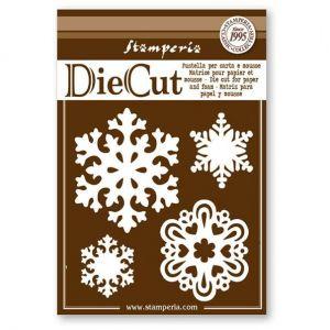Fustelle fiocchi di neve per Scrapbooking by Stamperia Die Cut