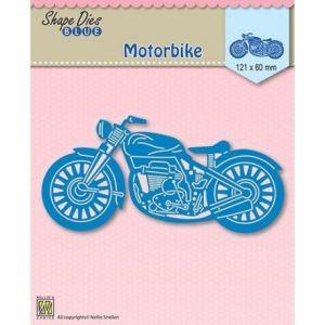 Fustella scrapbooking Shape Die Blue - Motorbike - motocicletta - art. SDB001 - Nellie's Choice