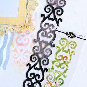 Fustella Scrapbooking Sizzlits Decorative Strip – Decorative Hearts – Fascia Decorazione Cuori – art. 658000 – Sizzix