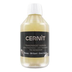Vernice Finale Trasparente LUCIDA - per Paste modellabili e Paste polimeriche - 250 ml - GLOSSY - Cernit